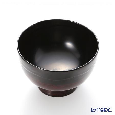 Wajima Lacquerware 'A-3-1' Footed Soup Bowl 13.5cm