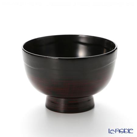 【伝統工芸】輪島塗 高丸碗 黒ぼかし A-3-1