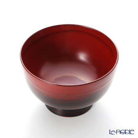Wajima Lacquerware 'A-3-3' Footed Soup Bowl 13.5cm