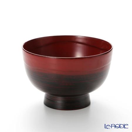 【伝統工芸】輪島塗 高丸碗 本朱ぼかし A-3-3