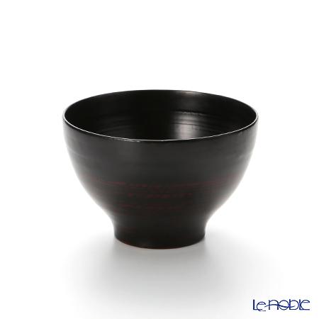 【伝統工芸】輪島塗 なごみ碗 黒ぼかし A-6-1