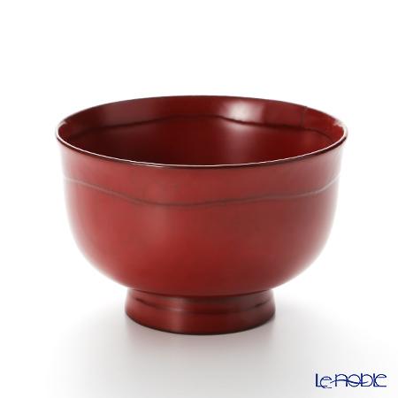 【伝統工芸】輪島塗 はぞり大碗 総本朱 A-9-1