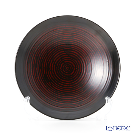 Wajima Lacquerware 'B-8-1' Black Deep Plate 18cm