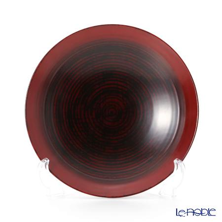 Wajima Lacquerware 'B-8-2' Red Deep Plate 18cm