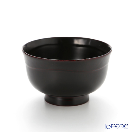 Japanese Lacquerware (Wajima) Bowl with an outward-curved rim lacquer color A-2-3