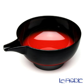 Japanese Lacquerware (Wajima) Akebono Nuri Red&Black Bowl 12 x 7cm
