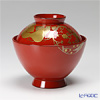 Japanese Lacquerware (Wajima) flower-Maki-e Rice Bowl (Chinese)