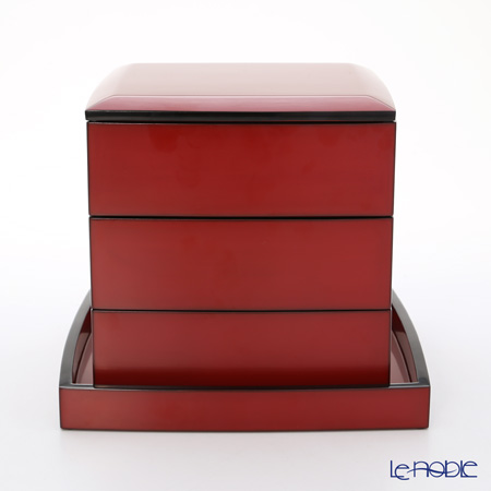 【伝統工芸】輪島塗 たまり朱5.5三段重