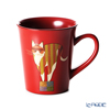 Wajima Lacquerware 'Neko / Cat' Red Mug