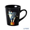 Wajima Lacquerware 'Neko / Cat' Black Mug