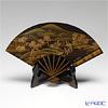 Wajima Lacquerware 'San-sui / Landscape (Maki-e)' Fan shape Plate 37x23cm