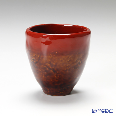 Japanese Laqeur ware (Wajima) lacquered sake Cup Red