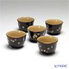 Japanese Lacquerware (Wajima) Cup 5 align florets Sakaguchi Masaaki's work is