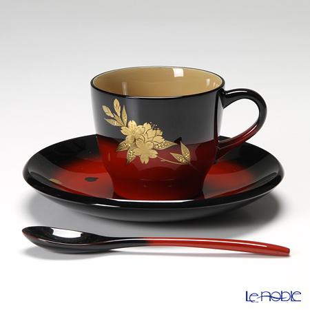 Japanese Lacquerware (Wajima) Akebono Nuri Cherry blossom Coffee cup 10x6.5cm