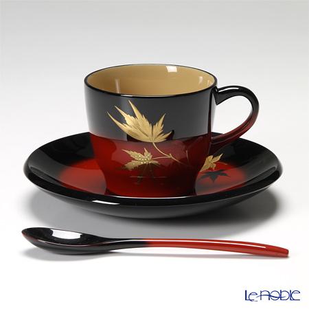 Japanese Lacquerware (Wajima) Akebono Nuri Japanese maple Coffee cup 10x6.5cmH