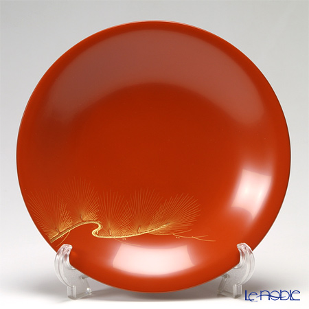 【伝統工芸】輪島塗 9寸菓子鉢 松 福久勝利氏作