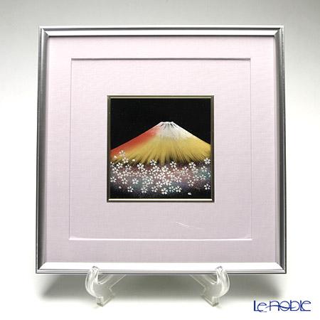 【伝統工芸】輪島塗 漆芸額 富士に桜(小) 加治武氏作品
