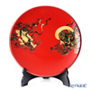 Wajima Lacquerware 'Fujin Raijin / Wind and Thunder Gods' Red Plate 39cm