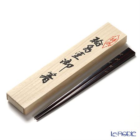 【伝統工芸】輪島塗 御箸 とんぼ 溜塗 24cm 【桐箱付】