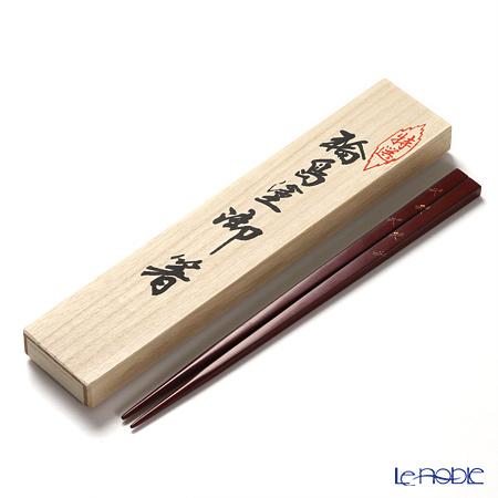 【伝統工芸】輪島塗 御箸 とんぼ たまり朱 24cm 【桐箱付】