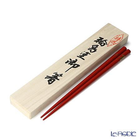 【伝統工芸】輪島塗 御箸 馬 赤 22.5cm 「桐箱付」