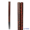 Wajima Lacquerware 'Mushi Kui' Black Red Chopsticks 23cm