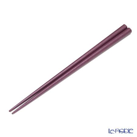 【伝統工芸】輪島塗 御箸 乾漆 紫 22.5cm