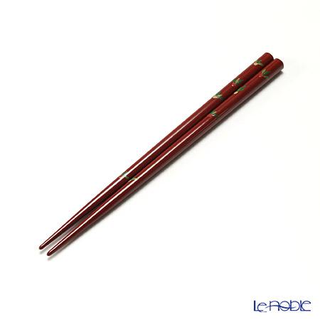 【伝統工芸】輪島塗 御箸 かぶら 赤 21cm 手描き