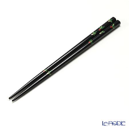 【伝統工芸】輪島塗 御箸 かぶら 黒 22.5cm 手描き