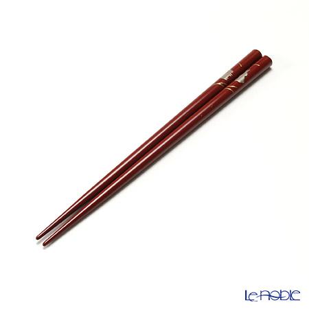 【伝統工芸】輪島塗 御箸 銀うさぎ 赤 21cm 手描き