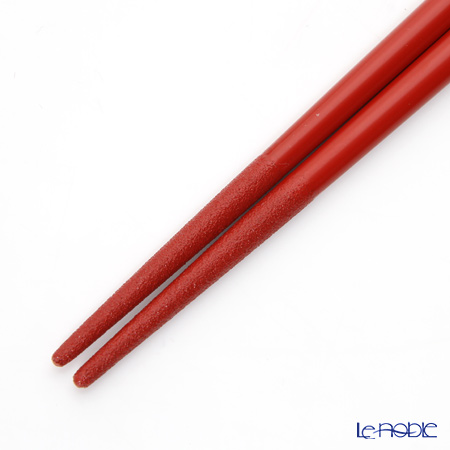 Wajima Lacquerware 'Morning Glory Flower' Red Chopsticks 21cm