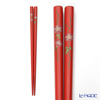 Japanese Lacquerware (Wajima) chopsticks and morning glory Red 21cm