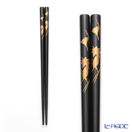 Japanese Lacquerware (Wajima) your chopsticks-CDN Black hand painted lacquer