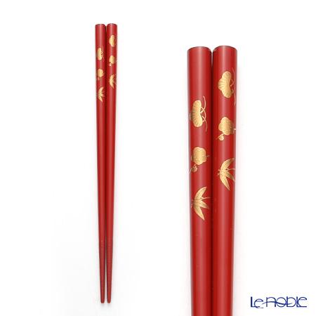 Wajima Lacquerware 'Syou Chiku Bai / Pine Bamboo Plum (Maki-e)'  Chopsticks 21cm