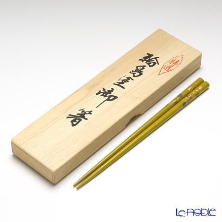 【伝統工芸】輪島塗 御箸 ハローキティ てまり蒔絵 カラシ 22.5cm 【桐箱付】
