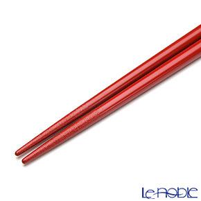 【伝統工芸】輪島塗 干支箸 子(ね)赤(中) 21cm