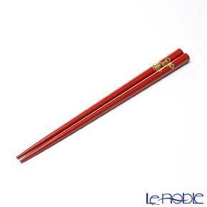 【伝統工芸】輪島塗 干支箸 子(ね) 赤(中) 21cm