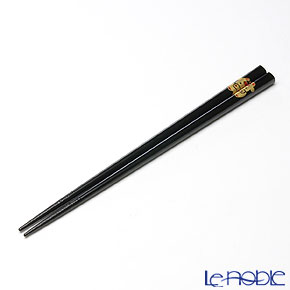 【伝統工芸】輪島塗 干支箸 丑 黒(大) 22.5cm