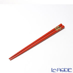 【伝統工芸】輪島塗 干支箸 丑 赤(小) 19.5cm