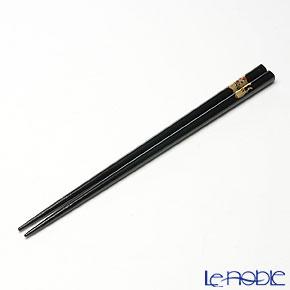 【伝統工芸】輪島塗 干支箸 寅 黒(大) 22.5cm