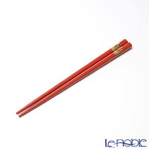 【伝統工芸】輪島塗 干支箸 寅 赤(小) 19.5cm