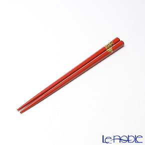 【伝統工芸】輪島塗 干支箸 卯赤(小) 19.5cm