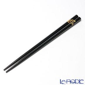 【伝統工芸】輪島塗 干支箸 巳 黒(大) 22.5cm