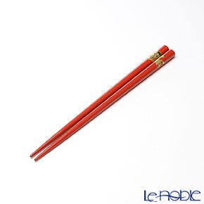 【伝統工芸】輪島塗 干支箸 午 赤(小) 19.5cm