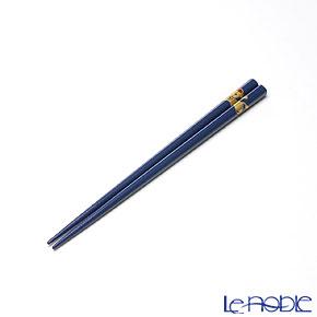 【伝統工芸】輪島塗 干支箸 午 青(小) 19.5cm