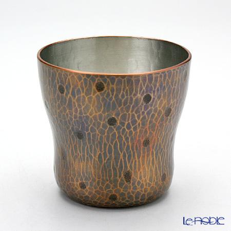 【伝統工芸】燕鎚起銅器(純銅) ロックカップ 玉打 Cu-7