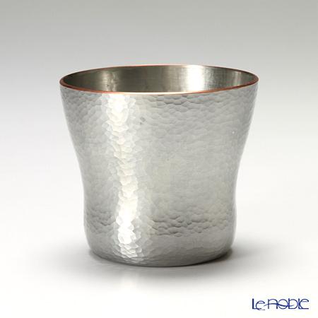 【伝統工芸】燕鎚起銅器(純銅) ロックカップ 白銀 刃鎚目(小) Cu-9