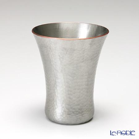 【伝統工芸】燕鎚起銅器(純銅) 冷酒カップ 白銀 Cu-15