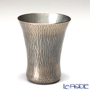 【伝統工芸】燕鎚起銅器(純銅) 冷酒カップ 花石目 140cc Cu-17