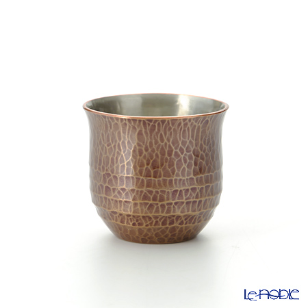 Traditional Japanese Handicraft: Tsuiki Copperware (native copper)  Sake cup